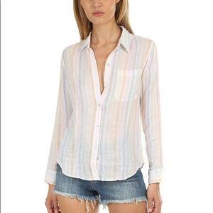 RAILS Ellis Button Down Aurora Stripe 100% Cotton